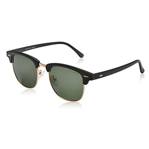 LUENX Herren Sonnenbrille Polarisiertes Grün Linse- UV 400 Schutz 51mm