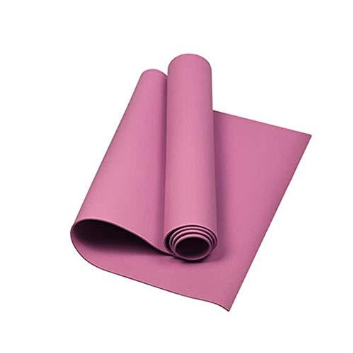 mengzhong Workout für Anfänger, umweltfreundliche Gymnastikmatte, schwarz, 1730 x 4, 600 mm, elastische Yogamatte, rutschfeste Trainingsmatte, Fitness-Knie-Tragetasche, Übungsmatte, rose