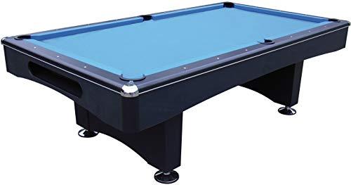 John West Pool Billardtisch Black Pool 6 ft - 180x90 cm mit Schieferplatte inkl. Montage und Zubehörset Billard
