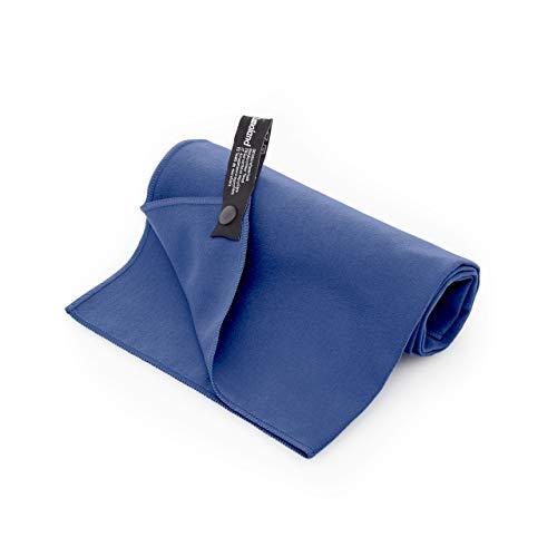 Lumaland Mikrofaser Handtücher Ultra saugfähig Leichte Badetücher 3er Set 70 x 140 cm Dunkelblau