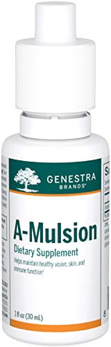 Genestra Brands - A-Mulsion - Emulsified Vitamin A to Support Vision, Skin, Bones and Immunity - 30 ml Liquid - Citrus Flavour