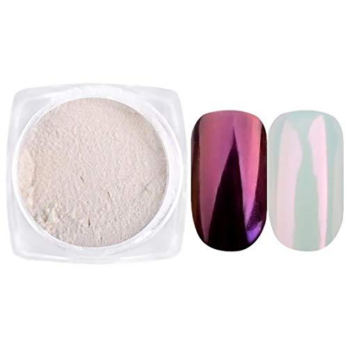 1PC Chrome Polvo De Uñas De Arte Espejo Efecto De Arco Iris Polvo De La Perla Nails Art Metálico Manicura Pigmento Ultra Nail Smooth Art Polvo (1 G, Rojo De Vino)