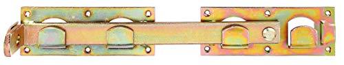 Doppeltorüberwurf, links und rechts verwendbar, 423 x 70 mm, galvanisch gelb verzinkt