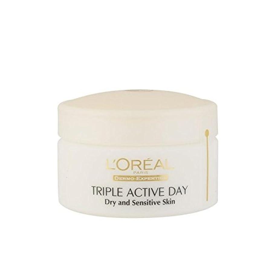 後悔ワンダー飼い慣らすL'Oreal Paris Dermo Expertise Triple Active Day Multi-Protection Moisturiser - Dry/Sensitive Skin (50ml) (Pack of 6) - ロレアルパリ、真皮の専門知識トリプルアクティブな一日のマルチ保護保湿 - ドライ/敏感肌(50ミリリットル) x6 [並行輸入品]