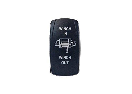 OZ-USA Winch in Out Switch Blue LED Laser Rocker UTV Truck Boat Dash Polaris rv