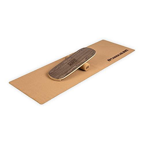 BoarderKING Indoorboard - Classic - Skateboard Surfboard Trickboard Balanceboard Balance Board, walnuss