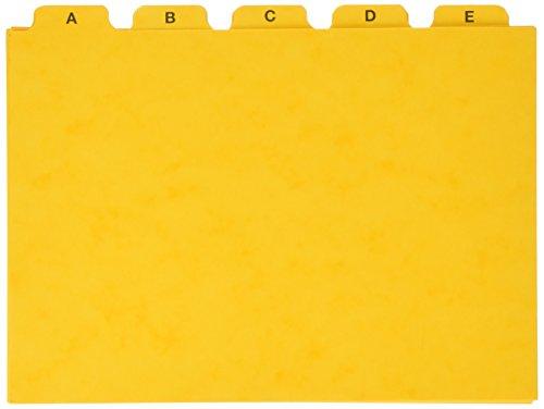 Pagna 25251-05 - Carpeta colgante con separadores (25 unidades, A5), color amarillo
