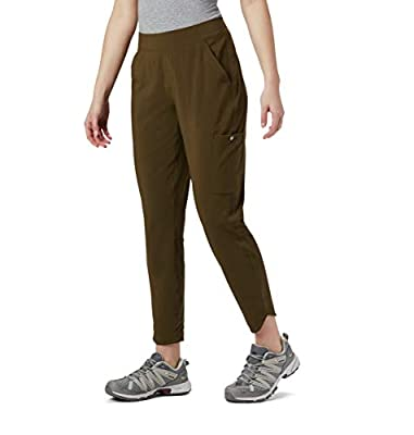 Columbia Women's Place Pant, Olive Green, X-Small Regular