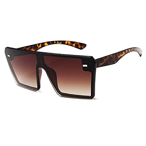 NBJSL Gafas de sol cuadradas de gran tamaño Moda para mujer Uv400 Gafas de sol protectoras (Caja de embalaje exquisita)