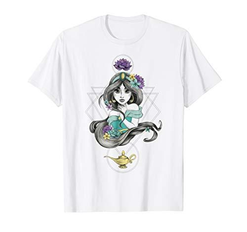 Disney Aladdin Colorful Boho Jasmine Graphic T-shirt