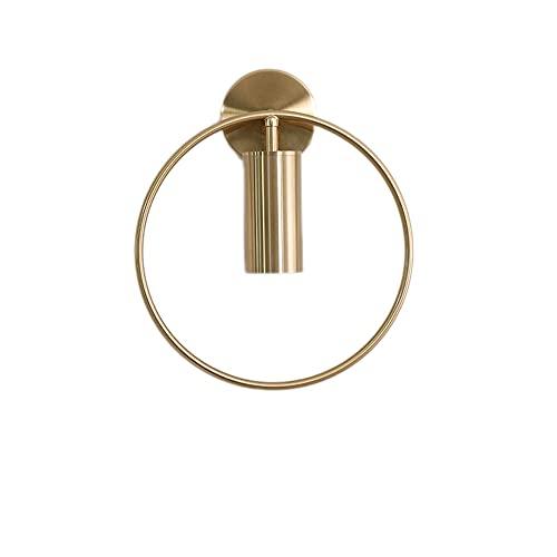 Moderne applique da parete vintage, lampade da bagno con materiale in acciaio, faretti da parete per interni a forma di anello, applique da parete a LED per interni per portico da giardino, bar, sala