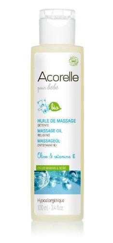 Acorelle Hygiène & Soin Bébé Huile de Massage Détente Bio 100 ml