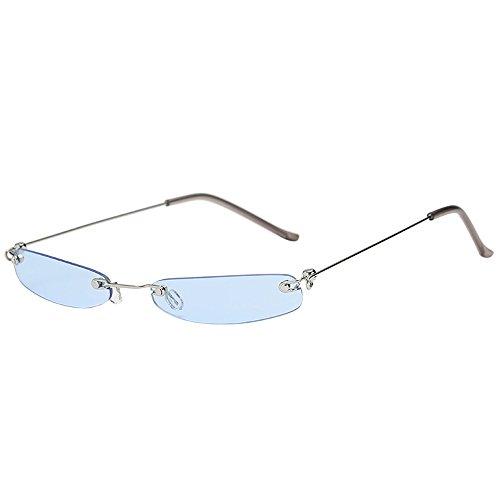 Sonnenbrillen Fashion Lila Linsen Frameless Gläser Personality Ultra Light UV-Schutz Kleiner Rahmen Sonnenbrillen Geeignet Für Outdoor-Picknick-Reisen BY YWLINK (one size, E)