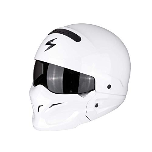 Scorpion Motorradhelm Exo Combat Solid, Weiß, Größe S