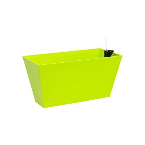 Fioriera vaso per piante Tubus Case con sistema d'irrigazione, capacità 12 Lt , colore: lime