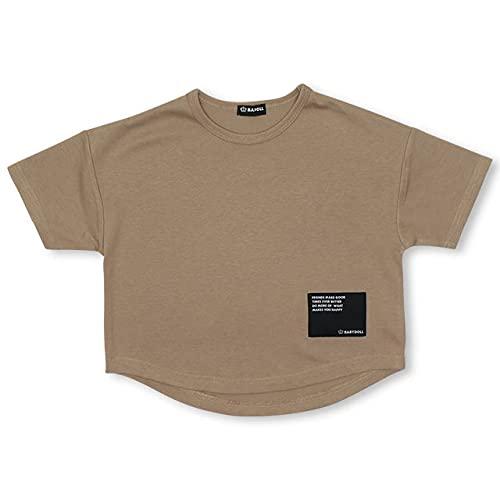 BABYDOLL ベビードール 子供服 クール 速乾 ドライTシャツ キッズ ユニセックス 120cm ベージュ 5194K