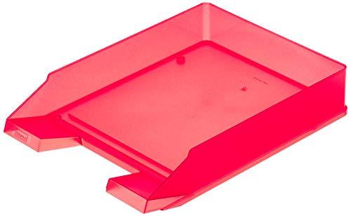 Idena 300856 - Ablagekorb für A4-C4, aus Kunststoff, transluzent rot, 1 Stück