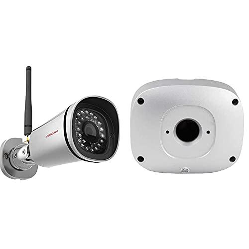 Foscam fi9800p telecamera, hd 1.0 mp, h.264, 720p, esterno, visore notturna, rilevatore movimenti & fab99 - scatola stagna in alluminio per contenere i cavi delle telecamere