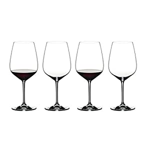 Riedel 6409/0 Heart to Heart Crystal Cabernet Sauvignon Red Wine Glass (4 Pack)
