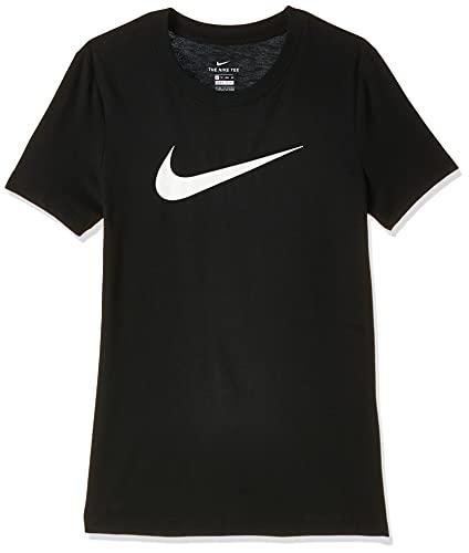 Nike Women's Dry Tee Drifit Crew, Black/Black/Heather/(White), Medium