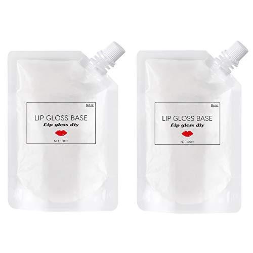 Ownest 2 Pcs Matte Lip Gloss Base,Lip Gloss Base Oil Material Lip Makeup Primers, Non-Stick Lipstick Primer Lip Gloss Base for DIY Handmade Lip Balms Lip Gloss-200g