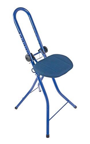BURI Bügelstehhilfe höhenverstellbar Bügelstuhl Standhilfe Stehsitz Alltagshilfe, Farbe:blau