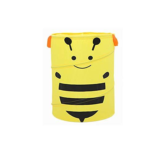 Cesto de ropa amarillo para niña