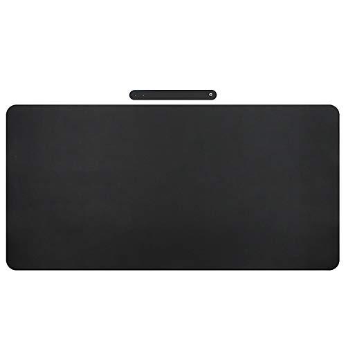 Office Desk Pad Impermeable,Alfombrilla De Ratón Grande Corcho Natural Cuero PU,Teclado Pad Juego Office Mat Rectangular Para Computadoras Portátil-Negro 40 * 80cm