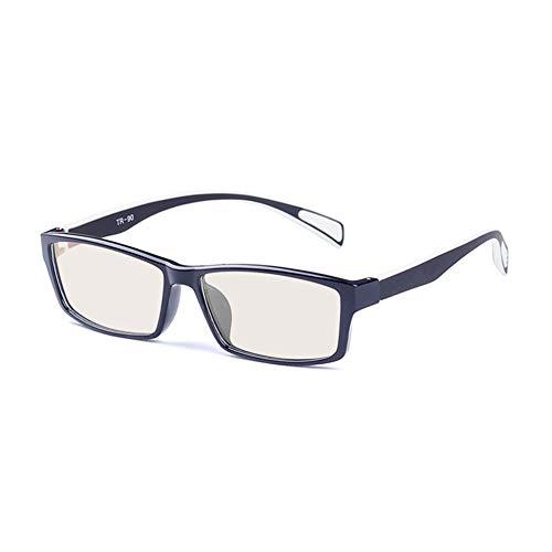 Reading glazen WYZQQ Unisex bril, blauw licht, Blocccano - anti-vermoeidheid, UV verblinding van digitale schermen - TV video gaming computer bril - brilmontuur TR90 mode