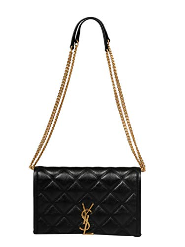 Saint Laurent Luxury Fashion Damen 5850311D3191000 Schwarz Leder Schultertasche | Herbst Winter 20