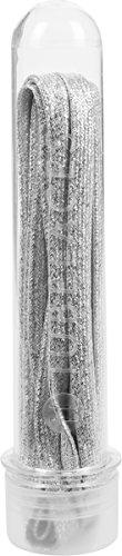 Tubelaces TubeLaces White Flat Glitter Schnürsenkel, Silber (Silver) 121-130 cm