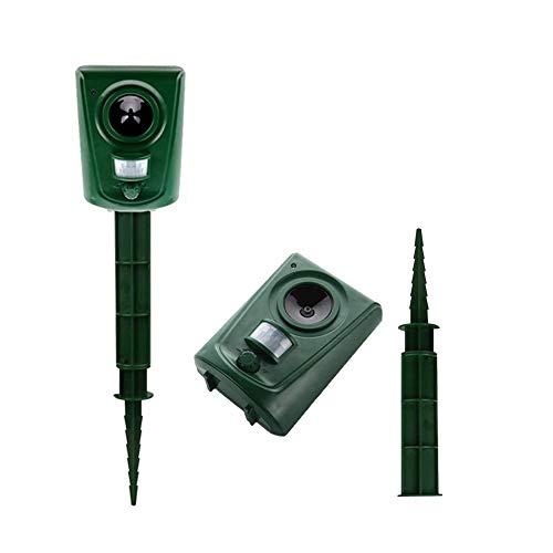 Mole Control 2 Paquete de plagas por ultrasonido Repellen, con Impermeable Sensor PIR Repelente, for los Gatos, los Perros, al Aire Libre Animal Repelente