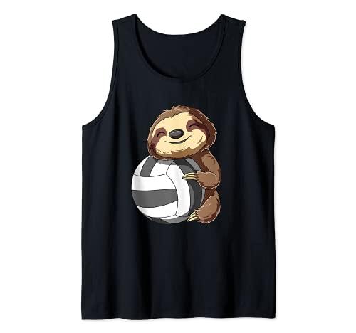 Süßes Baby Volleyball Faultier - Mädchen und Jungen Tank Top