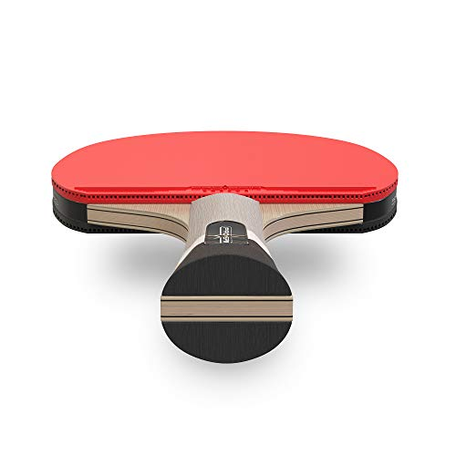 PRO SPIN Table Tennis Bat With Pro Carbon Fibre Technology for Increased Control, Spin & Power | Performance-Level Ping Pong Bat | Comes with Premium Rubber Protector