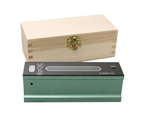 Accusize Industrial Tools Niveau de précision professionnel 15,2 cm dans une boîte ajustée, précision 0,0002''/25,4 cm, S908-C606