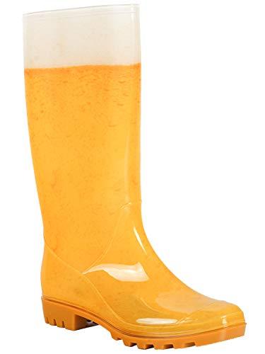 PartyXplosion Regenstiefel Bierdruck | Gummistiefel Bier | bestens geeignet für Festivals, Fasching und Karneval | für Herren & Damen (39-40, Damen Gummistiefel)