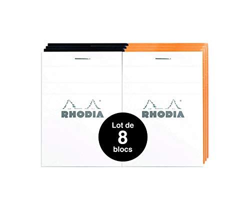 Rhodia notitieblok A7 (74 x 105 5) 80 vellen, geruit, 80 g/m2, geruit (5 x 5) Kleine tegels gesorteerd