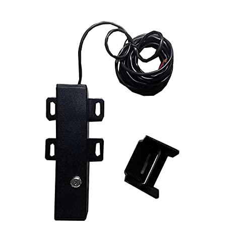 Qianfeng Kit de abridor de puerta automático eléctrico para exteriores de 24 V CC, cerradura eléctrica automática para abrir puertas batientes (color: negro)