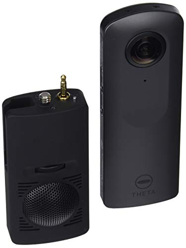 Ricoh Theta V - Cámara esférica 360° de 14 MP (Bluetooth, Android, 4K) + micrófono, color gris metalizado