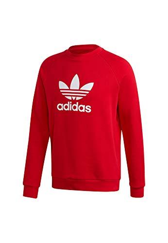 adidas Trefoil Crew Sweatshirt (Long Sleeve), Herren, Scarle, M