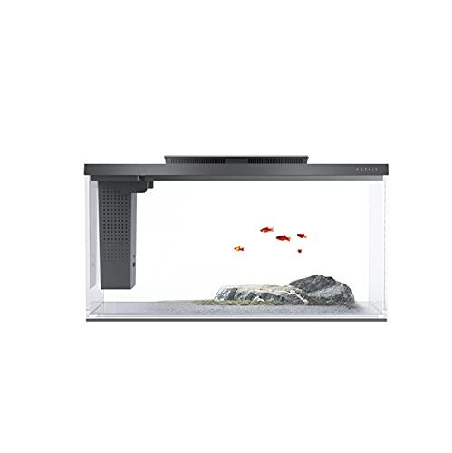 Smart Aquariumrohr, Ökologisches Aquarium Aquarium, Glasaquarium Mit Beleuchtungssystem Und Filter, Tropisches Aquarium, Komplettes Kit, 10L