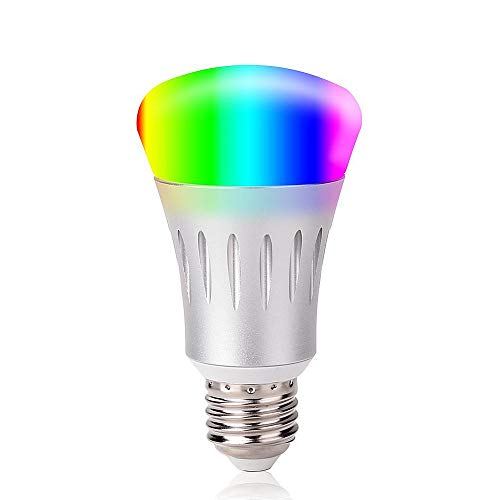 Smart LED Light Bulb,Night Light Bulbs,16 Million Multi-Color Dimmable,Work with Alexa,Wi-Fi Remote Control,7 Watts(60 Watts Equivalent),No Hub Need