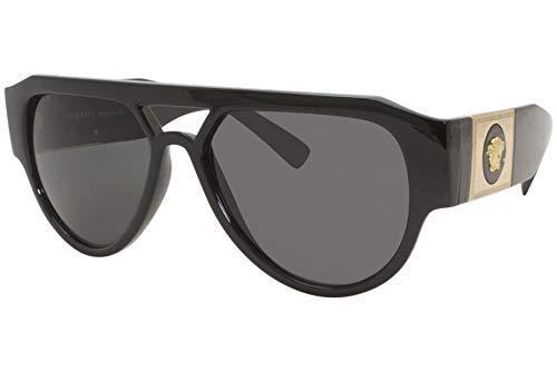 Versace Gafas de sol VE4401 GB1 / 87 Gafas de sol hombre color Negro gris tamaño de lente 57 mm