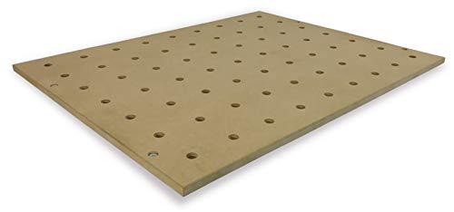 Holzkraft Lochrasterplatte (MDF Holzplatte, Lochdurchmesser 20 mm, Werkbankplatte, Maße 90x70x2 cm), 5190020