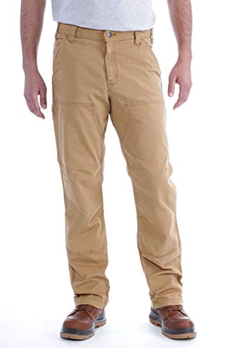 Carhartt Rugged Flex Rigby Double-Front Pant Boxer Bambino, Hickory, W34/L32 Uomo