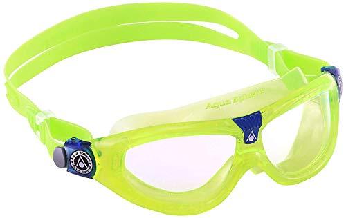Aqua Sphere Unisex-Youth Seal Kid 2 Schwimmmaske, Klare Gläser - Lime, Einheitsgröße