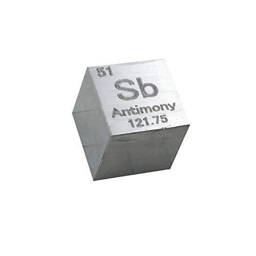 Tickas 10mm High Purity Simple Substance Metalcube Element Collection Display Lab Experiment Material Block 7 Optional,High Purity Material Block