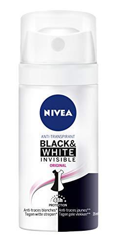 Nivea Black & White Original Desodorantes para mujer, antitranspirantes, 35 ml, 4 unidades