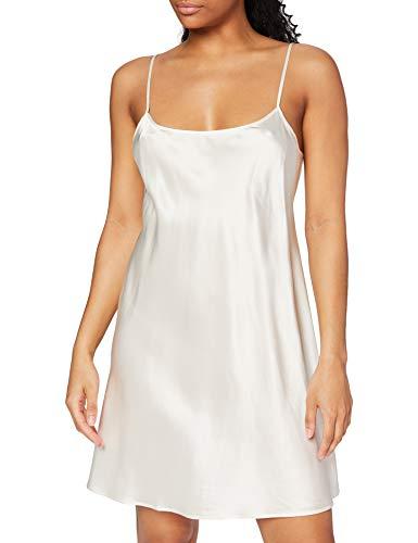 Palmers Damen Seide Silky Nights Nachthemd, Elfenbein (Pearl 224), 40 (Herstellergröße: M (40-42))