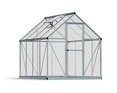 Palram HG5008 Mythos Hobby Greenhouse, 6' x 8' x 7', Silver